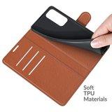 Oppo Find X3 Neo hoesje, MobyDefend Kunstleren Wallet Book Case, Bruin_