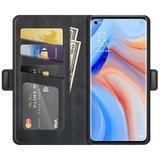 Oppo Find X3 Neo hoesje, MobyDefend Luxe Wallet Book Case (Sluiting Zijkant), Zwart_