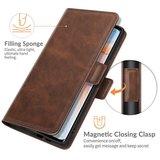 Oppo Find X3 Neo hoesje, MobyDefend Luxe Wallet Book Case (Sluiting Zijkant), Bruin_