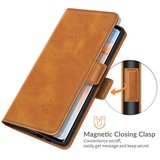 Oppo Find X3 Neo hoesje, MobyDefend Luxe Wallet Book Case (Sluiting Zijkant), Lichtbruin_