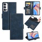 Oppo Find X3 Neo hoesje, MobyDefend Luxe Wallet Book Case (Sluiting Zijkant), Blauw_