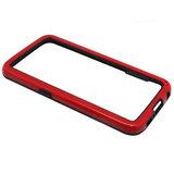 Samsung Galaxy S6 hoesje, bumper case, zwart-rood_