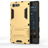 Sony Xperia X Compact hoesje, extreme protection hardcase met standaard, goud_