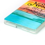 Sony Xperia Z5 hoesje, gel case met print, never stop dreaming_