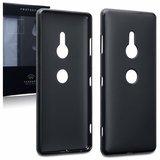 Sony Xperia XZ3 hoesje, gel case, mat zwart_
