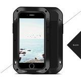 Apple iPhone 7 Plus / iPhone 8 Plus hoes, Love Mei, metalen extreme protection case, zwart_