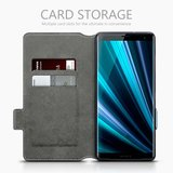 Sony Xperia XZ3 hoesje, MobyDefend slim-fit extra dunne bookcase, Blauw_