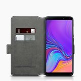 Samsung Galaxy A9 (2018) hoesje, MobyDefend slim-fit extra dunne bookcase, Grijs_
