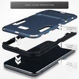 Samsung Galaxy J4 Plus hoesje, tough armor case met standaard, navy blauw_