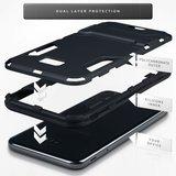 Samsung Galaxy J4 Plus hoesje, tough armor case met standaard, zwart_