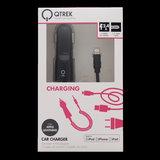 Qtrek Car Charger Apple Lightning 1.2M 2.4A Black _