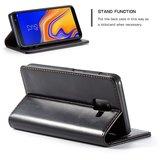 Samsung Galaxy J6 Plus hoesje, CaseMe bookcase, zwart_