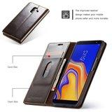 Samsung Galaxy J6 Plus hoesje, CaseMe bookcase, bruin_