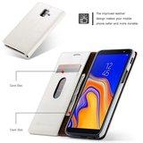 Samsung Galaxy J6 Plus hoesje, CaseMe bookcase, wit_