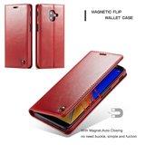 Samsung Galaxy J6 Plus hoesje, CaseMe bookcase, rood_