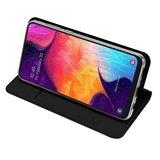 Samsung Galaxy A50 / A30S hoesje, slim fit bookcase, zwart_