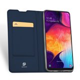 Samsung Galaxy A50 / A30S hoesje, slim fit bookcase, navy blauw_