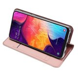 Samsung Galaxy A50 / A30S hoesje, slim fit bookcase, rosé goud_