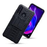Huawei P30 Lite hoesje, Rugged armor case met standaard, zwart_