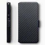 Huawei P30 Lite hoesje, carbon look 3-in-1 bookcase, zwart_