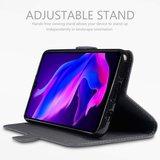 Huawei P30 Lite hoesje, echt leren 3-in-1 bookcase, grijs_