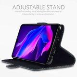 Huawei P30 Lite hoesje, MobyDefend slim-fit echt leren bookcase, Zwart_