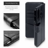 Huawei P30 Lite hoesje, luxe echt leren 3-in-1 bookcase, zwart_