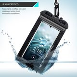 Waterdicht universeel telefoonhoesje, waterproof case, zwart_