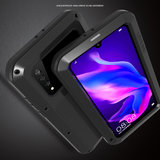 Huawei P30 Lite hoes, Love Mei, metalen extreme protection case, zwart-zilver_