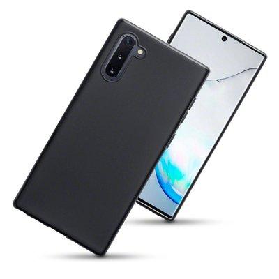 Samsung Galaxy Note 10 hoesje, gel case, mat zwart