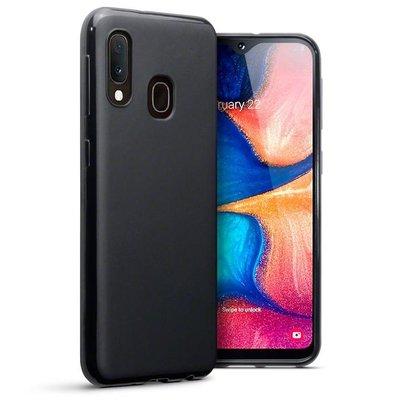 Samsung Galaxy A20e hoesje, gel case, mat zwart
