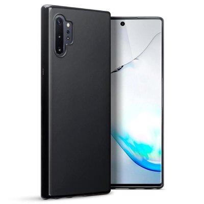 Samsung Galaxy Note 10 Plus hoesje (Note 10+), gel case, mat zwart