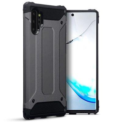 Samsung Galaxy Note 10 Plus hoesje (Note 10+), dubbel gelaagde pantsercase, donkergrijs