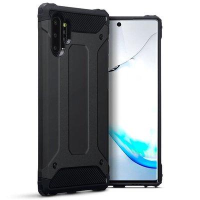 Samsung Galaxy Note 10 Plus hoesje (Note 10+), dubbel gelaagde pantsercase, zwart