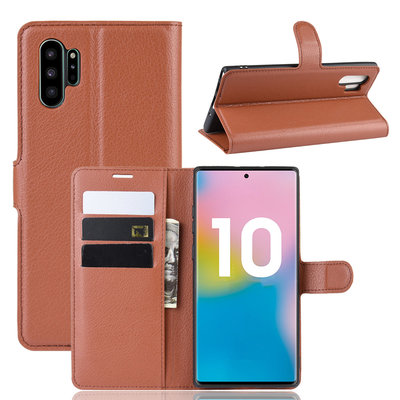 Samsung Galaxy Note 10 Plus hoesje (Note 10+), 3-in-1 bookcase, bruin