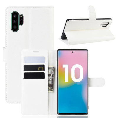 Samsung Galaxy Note 10 Plus hoesje (Note 10+), 3-in-1 bookcase, wit