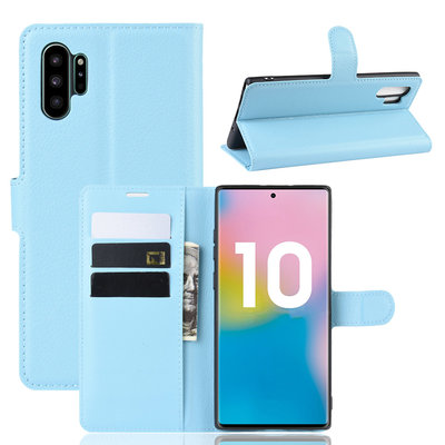 Samsung Galaxy Note 10 Plus hoesje (Note 10+), 3-in-1 bookcase, lichtblauw