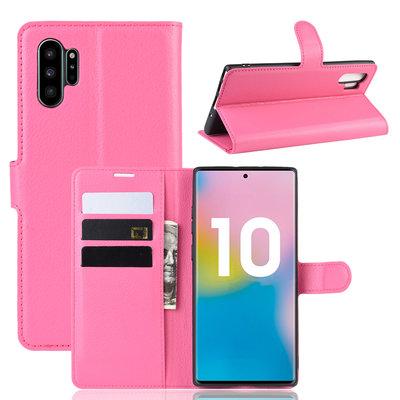 Samsung Galaxy Note 10 Plus hoesje (Note 10+), 3-in-1 bookcase, roze