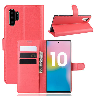 Samsung Galaxy Note 10 Plus hoesje (Note 10+), 3-in-1 bookcase, rood