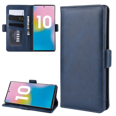 Samsung Galaxy Note 10 Plus hoesje (Note 10+), Luxe 3-in-1 bookcase, donkerblauw