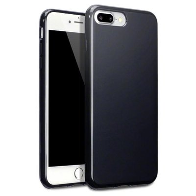 Apple iPhone 7 Plus / iPhone 8 Plus hoesje, gel case, mat zwart