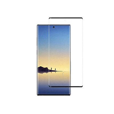 Samsung Galaxy Note 10 Plus (Note 10+) screenprotector, tempered glass (glazen screenprotector), zwarte randen