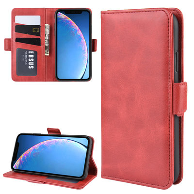 iPhone 11 hoesje, Luxe 3-in-1 bookcase, rood
