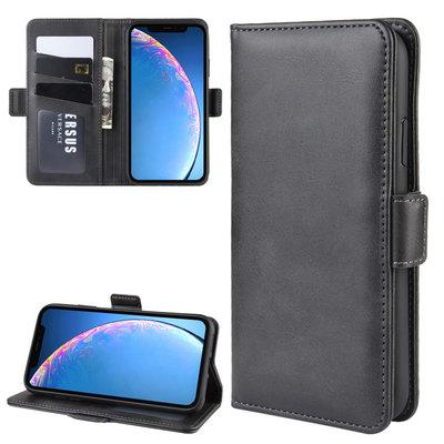 iPhone 11 hoesje, Luxe 3-in-1 bookcase, zwart