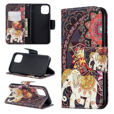 iPhone 11 Pro hoesje, 3-in-1 bookcase met print, olifant