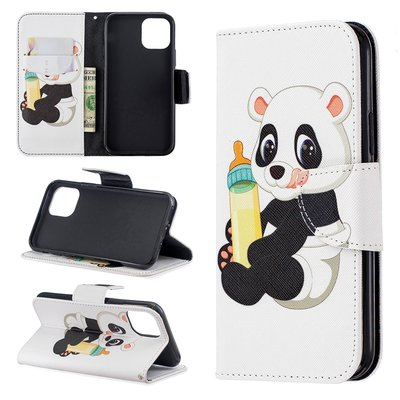 iPhone 11 Pro hoesje, 3-in-1 bookcase met print, baby panda