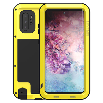 Samsung Galaxy Note 10 Plus hoes (Note 10+), Love Mei, metalen extreme protection case, geel