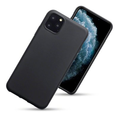 iPhone 11 Pro Max hoesje, gel case, mat zwart