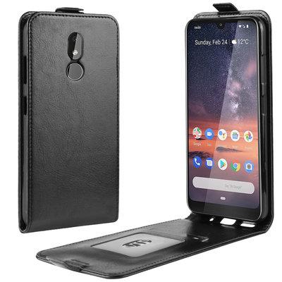 Nokia 3.2 hoesje, flipcase, zwart
