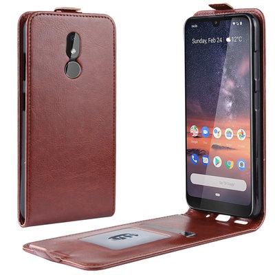 Nokia 3.2 hoesje, flipcase, bruin